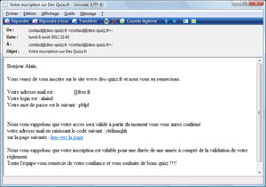 Mail original site de rencontre